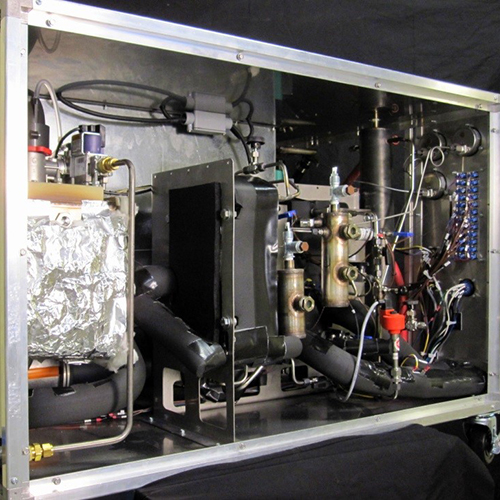 Internal components of an experimental adsorption heat pump.